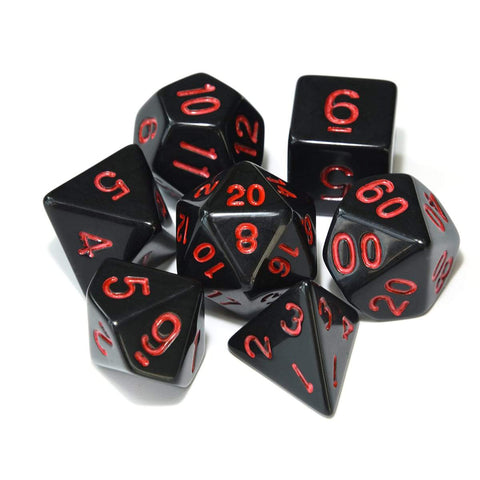 Image of Dice - Black Hole Polyhedral Dice Set