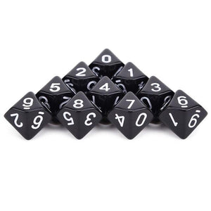 Dice - D10 Dice Set (10 Pieces)