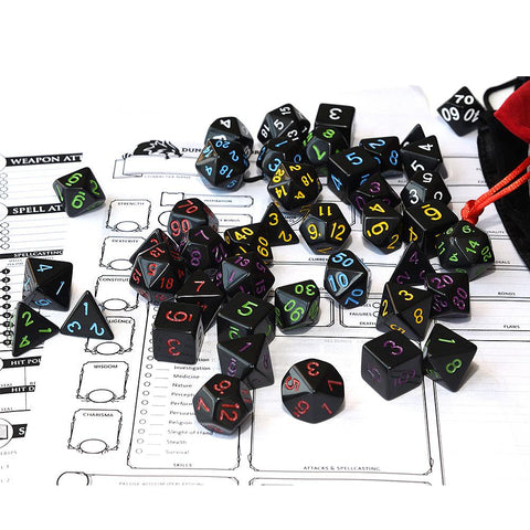 Image of Dice - EPIC Black Hole Bag-O-Dice Bundle (42 Pieces)