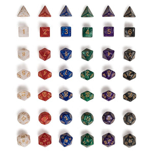 EPIC Marbled Bag-O-Dice Bundle (42 pieces)