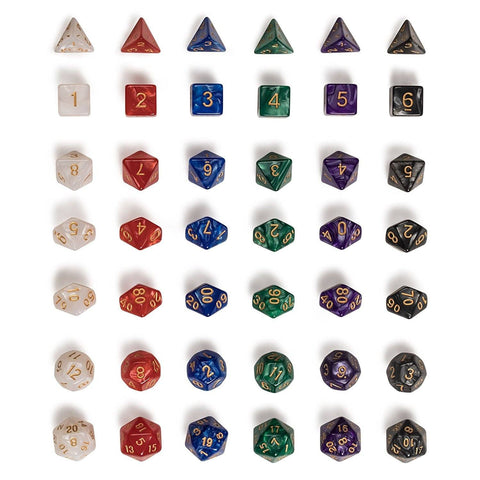 Image of Dice - EPIC Marbled Bag-O-Dice Bundle (42 Pieces)