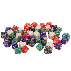 Dice - Epic Marbled D10 Bundle (50 Pieces)