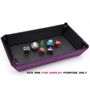 Foldable Velvet Lined Dice Tray
