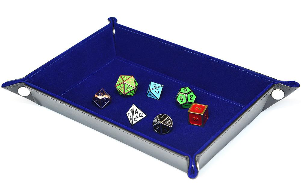 Dice - Foldable Velvet Lined Dice Tray