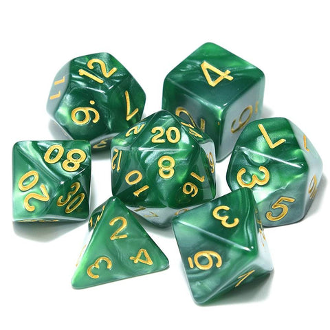 Image of Dice - Marbled Pearl Finish Polyhedral Dice Set