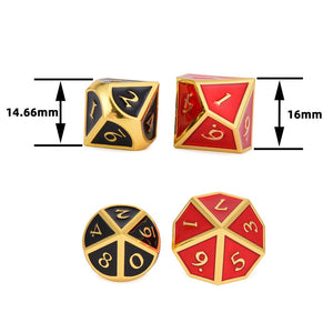 Dice - Metal Enamel D10 Dice Set (10 Pieces)