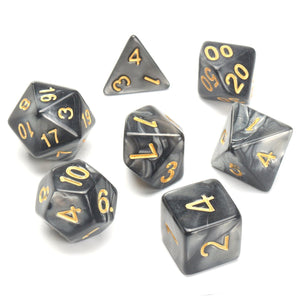 Mystic Runes Leather Dice Cup with 7 Piece Polyhedral Dice Set