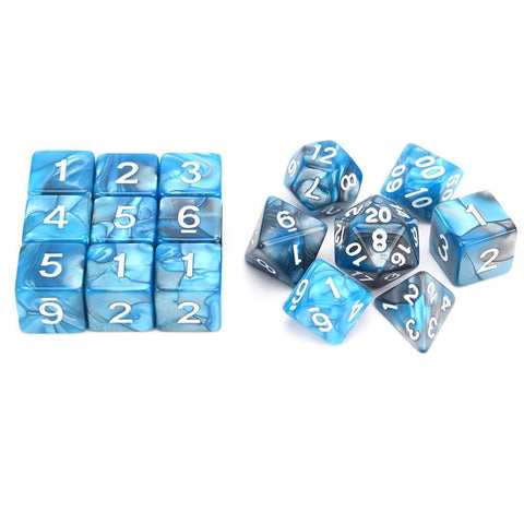 "Image of Dice - ""Super Size Me"" Nebula Dice Set (16 Pieces)"