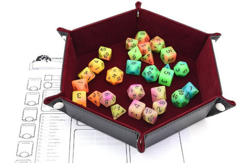 Dice - Trinity Adventure Pack (Metal Dice Set/Dice Tray/Glowing Polymer Dice Set)