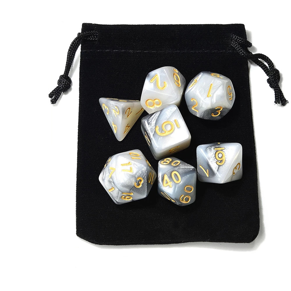 Dice - Wizarding Spells Dice Set With Pouch