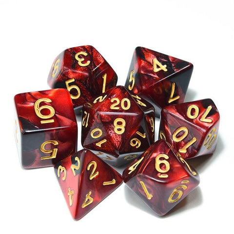 Image of Dice - Wizarding Spells Dice Set With Pouch