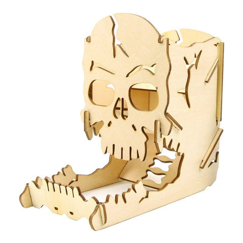 Dice - Wooden Skull Dice Tower