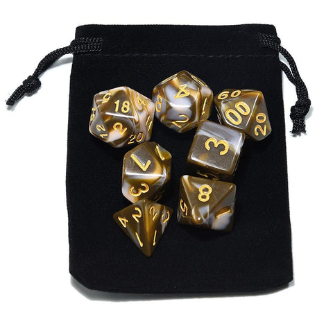 Yummy Flavors Polyhedral Dice Set With Pouch
