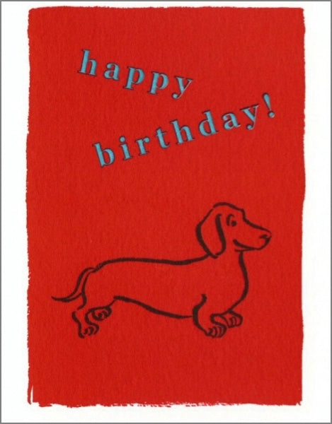 ARCHIVIST-MINI  CARD-HAPPY BIRTHDAY DOG