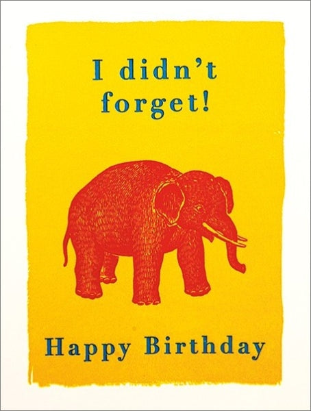 ARCHIVIST-MINI  CARD-FORGETFUL ELEPHANT