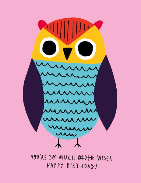 BADGER & BURKE-CARD-WISER OWL