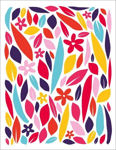 Badger & Burke-Card-Wild Flower Pattern