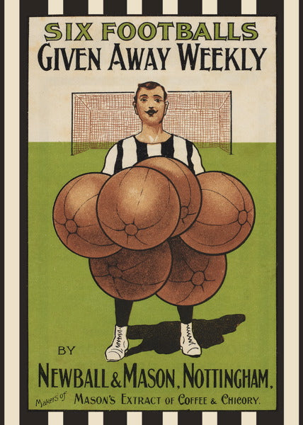 Bodleian Library-Card-Six Footballs
