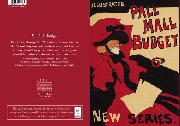 Bodleian Library-Card-Paul Mall Budget