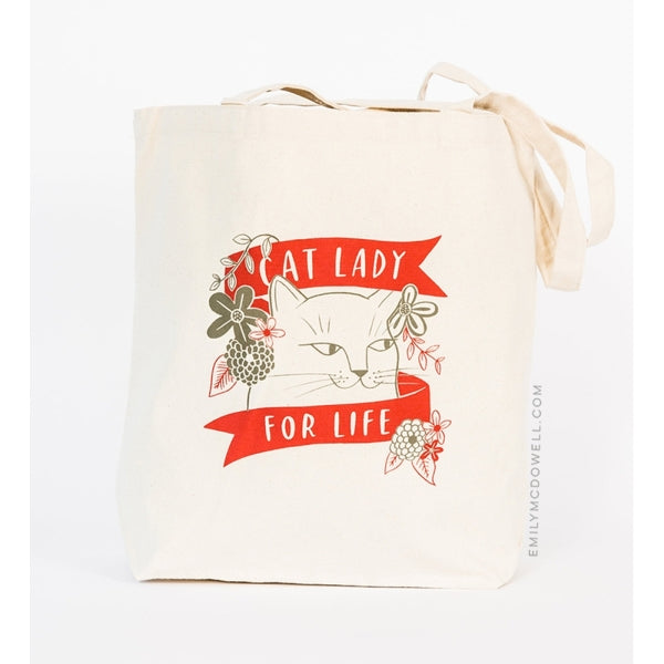 EMILY MCDOWELL-TOTE BAG-CAT LADY