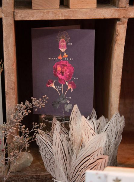 FIREWEED-FOIL CARD-FLORAL FIRE