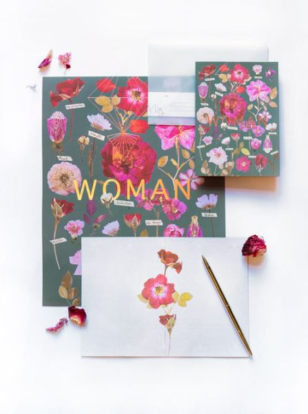 FIREWEED-FOIL CARD-WOMAN'S GARDEN