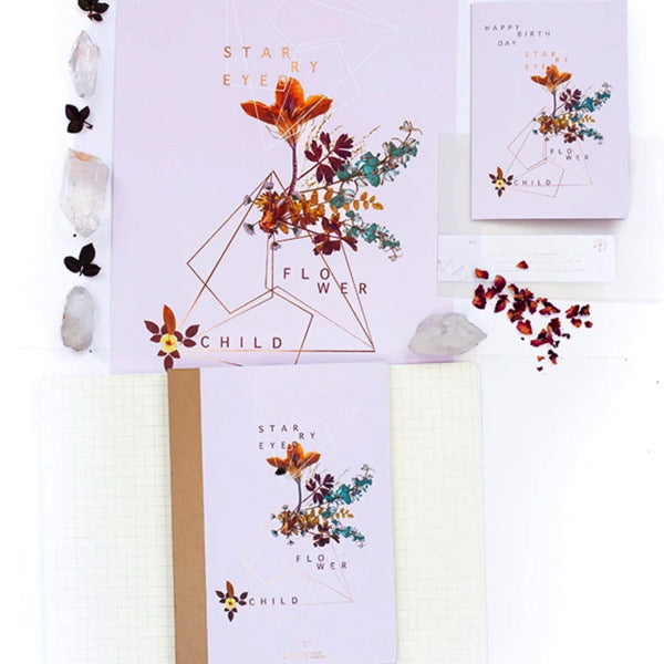 Fireweed-Cloth Bound Note Book-Flower Child