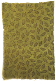 GIFTSLAND-WRAP-LEAVES ON OLIVE EMBOSSED