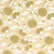 Giftsland-Wrap-Flowers Gold/White On White