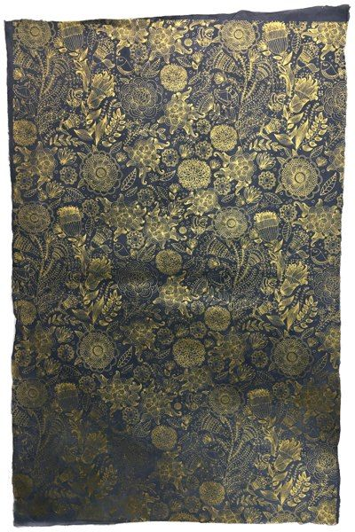 Giftsland-Wrap-Art Decor Gold On Navy