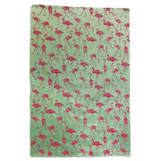 Giftsland-Wrap-Flamingos Magenta On Mint
