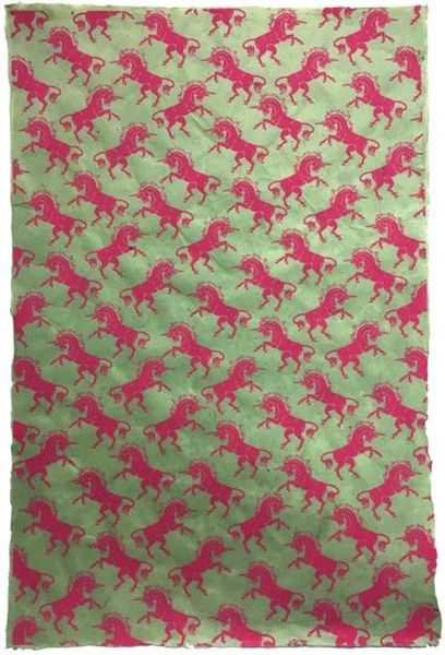 Giftsland-Wrap-Unicorns Pink On Mint
