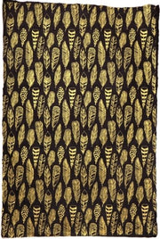 Giftsland-Wrap-Feathers Gold On Black