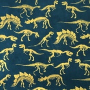 GIFTSLAND-WRAP-DINOSOARS GOLD ON NAVY