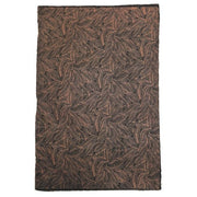 GIFTSLAND-WRAP-LINE LEAF COPPER ON BLACK