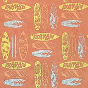 GIFTSLAND-WRAP-SURFBOARD GOLD SILVER COPPER ON PAPAYA