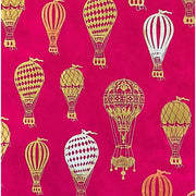 GIFTSLAND-WRAP-HOT AIR BALLOON METALLIC ON MAGENTA