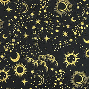 Giftsland-Wrap-Sun Moon Stars Gold On Black