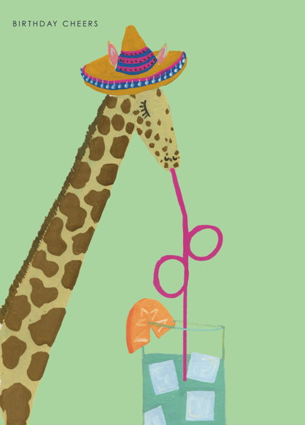 HUTCH CASSIDY-CARD-GIRAFFE COCKTAIL