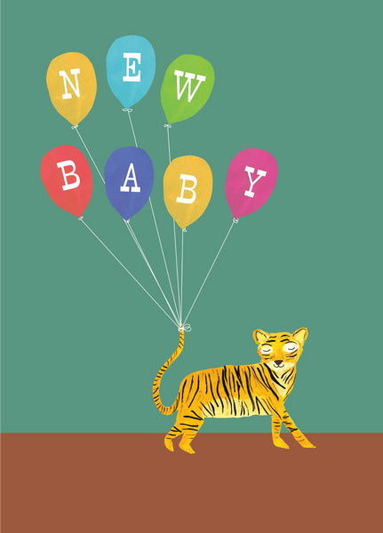 HUTCH CASSIDY-CARD-TIGER NEW BABY