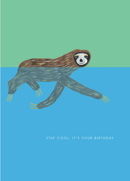 HUTCH CASSIDY-CARD-SLOTH SWIMMING