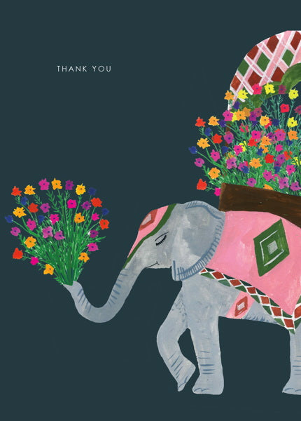 HUTCH CASSIDY-CARD-ELEPHANT THANK YOU