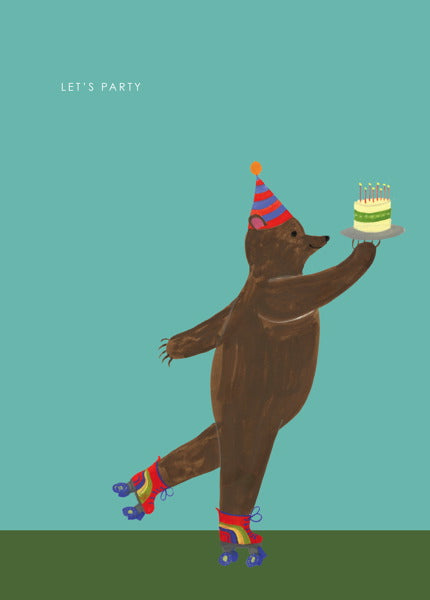 HUTCH CASSIDY-CARD-PARTY BEAR