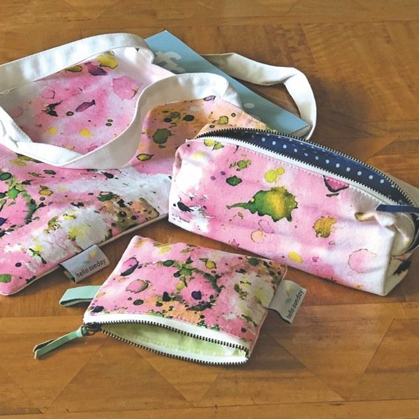 HELLO SUNDAY-SMALL POUCH-PASTEL SPLATTER