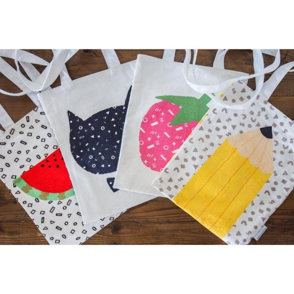 HELLO SUNDAY-MEDIUM TOTE-WATERMELON