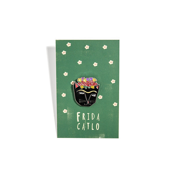 ENAMEL PIN-FRIDA CATLO