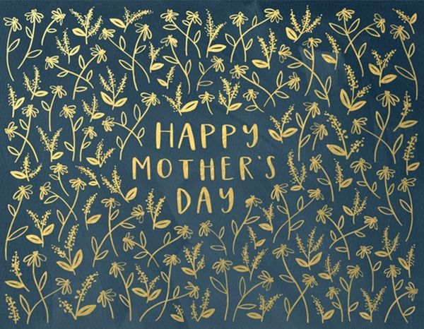 1Canoe2-Foil Card-Mother's Day Navy Floral