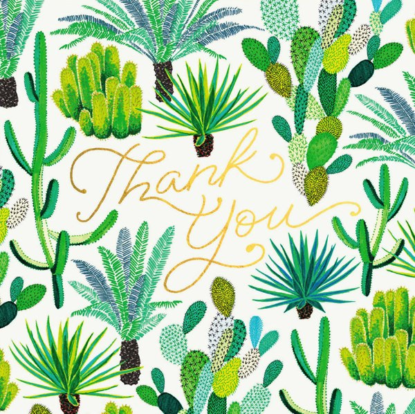 OHH DEER-CARD-CACTI THANK YOU