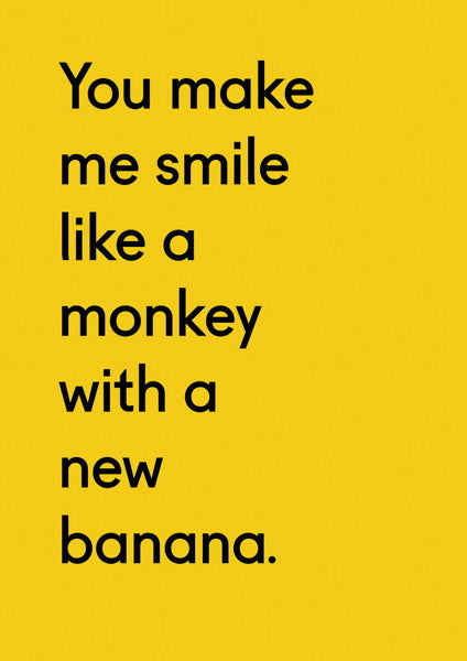 OHH DEER-CARD-MONKEY WITH A NEW BANANA