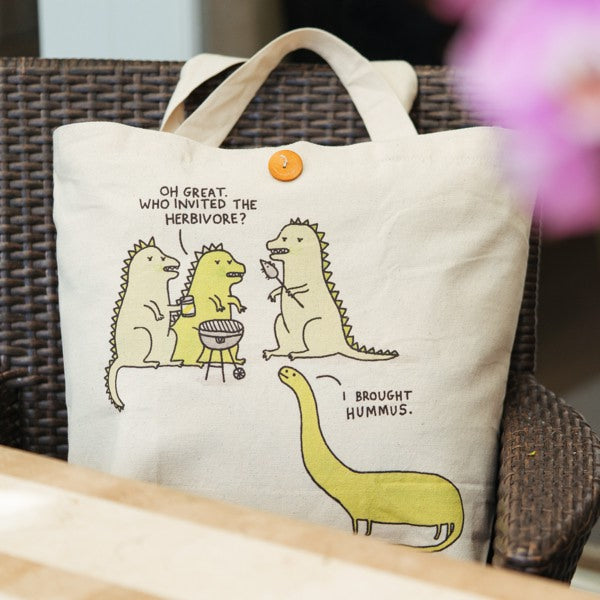 Ohh Deer-Large Shopping Tote-Herbivore